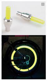 LED svítící ventilek ALTIMA na kolo