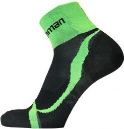 Ponožky NORTHMAN ROAD BIKE èerná/zelená