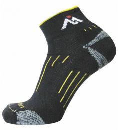 Ponožky NORTHMAN RUNNING SHORTY èerná/žlutá