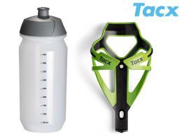 Košík TACX Deva + Láhev Shiva 0,5l zelená/karbon
