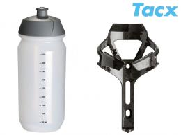 Košík TACX Ciro + Láhev Shiva 0,5l èerná/karbon