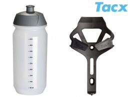 Košík TACX Ciro + Láhev Shiva 0,5l èerná-matná/karbon