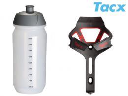 Košík TACX Ciro + Láhev Shiva 0,5l èervená-matná/karbon