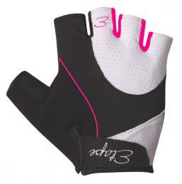 Etape - dámské rukavice RIVA, bílá/rùžová