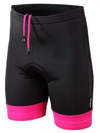 Kalhoty ETAPE JUNIOR s vložkou èerná/rùžová