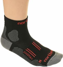 Ponožky NORTHMAN RAPID BIKING èerná/èervená