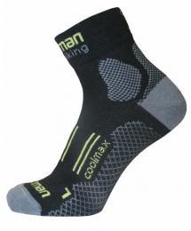 Ponožky NORTHMAN ENDURO BIKING èerná/zelená