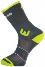 Ponožky PROGRESS WALKING šedá/zelená
