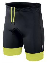 Kalhoty ETAPE JUNIOR s vložkou èerná/žlutá fluo