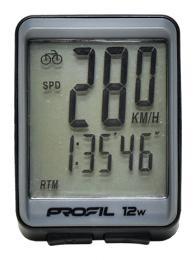 Cyklocomputer PROFIL 12W bezdrátový èerno-šedý