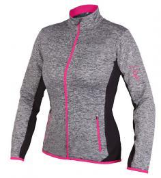 Etape - dámský dres LISSA, šedá melír/rùžová