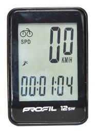 cyklocomputer PROFIL-1501 12SW bezdrátový èerný