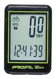 cyklocomputer PROFIL-1501 12SW bezd. èerno-zelený