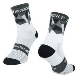 Ponožky F TRIANGLE, bílo-šedo-èerné S-M