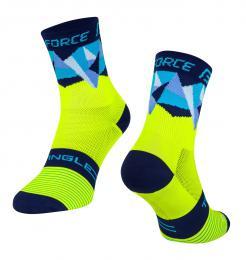 Ponožky F TRIANGLE, fluo-modré L-XL