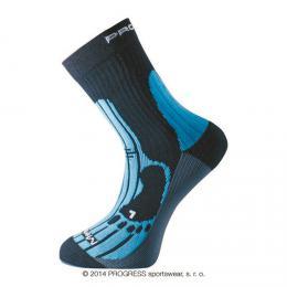Ponožky PROGRESS MERINO èerná/modrá/šedá